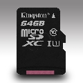 64GB KINGSTON MICRO SD HC SDCS/64GBSP